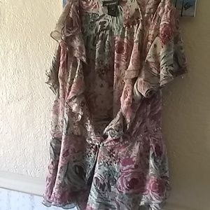 Beautiful Lane Bryant blouse sheer